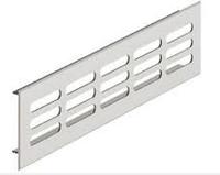 Решетка вентиляционная, 80 х 500 мм, себристая
