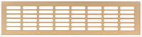 Решетка вентиляционная , алюминий, 500 х 100 мм, цвет золото