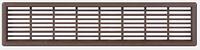 Решетка вентиляционная, 175 х 41 мм, цвет коричневый