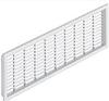 Решетка вентиляционная, пластмасса, белый 227x 68мм