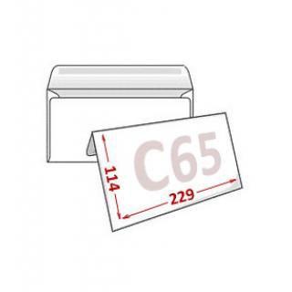 Конверт С65, белый 114*229мм