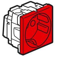 Розетка 2М, с Механической Блокировкой, Красная