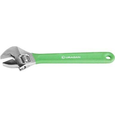Ключ разводной URAGAN, хромированный, с обливной рукояткой, 150мм