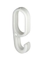 Навесной крючок для OVA 30х15 мм, пластик, серебристый, фото 1