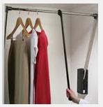 Лифт гардеробный, никелированная, черный, хром 770-1200мм, фото 1