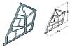 Комплект креплений для откидных полок 3-уровня, белый алюминий, RAL 9006, пластмасса