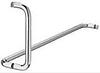 Дверные ручки для душевой кабины, латунь, хром полированый, 610 / 203 мм