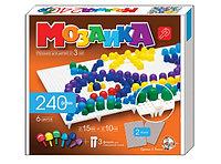 Игровой набор детская мозаика, классическая, 240 фишек, 6 цветов, 2 поля