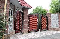 Ворота распашные с калиткой, фото 1