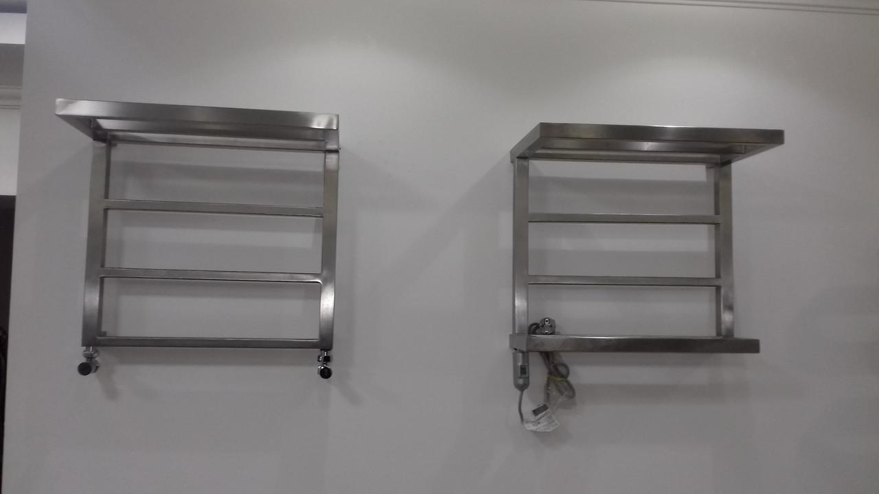 Полотенцесушитель с полочкой и держателем полотенца ASTOR UX 500*450 - фото 2