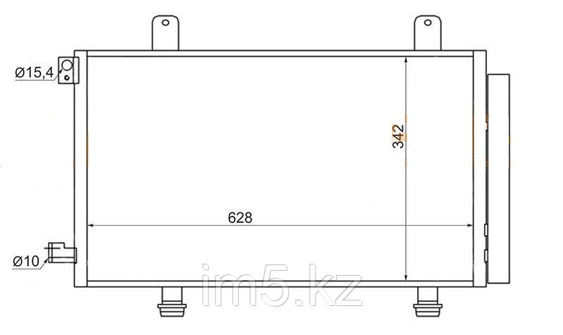 Радиатор кондиционера FIAT SEDICI 05-