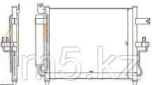 Радиатор кондиционера HYUNDAI ACCENT 00-06 /ACCENT TAGAZ 03-(механика)