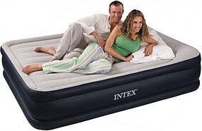 """Надувная кровать """"Deluxe Pillow Rest Raised Bed"""" 152х203х43см с подголовником"""
