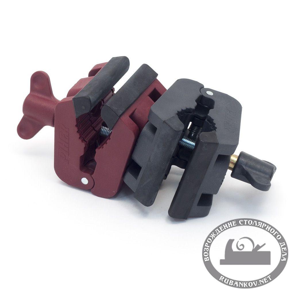 Зажим Pher MultiClamp, двойной поворотный (красный + чёрный)