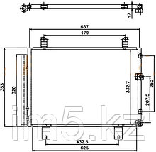 Радиатор кондиционера  LEXUS IS250/350 05-13