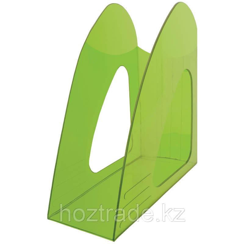 """Лоток для бумаг вертикальный  """"Mega top"""" зеленый"""