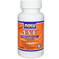 Мультивитамины для женщин в капсулах, без железа, 120 вегетарианских капсул. Eve. ЕВА. Now Foods, фото 1
