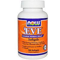 Мультивитамины для женщин в капсулах, без железа, 180 капсул. Eve. ЕВА. Now Foods, фото 1