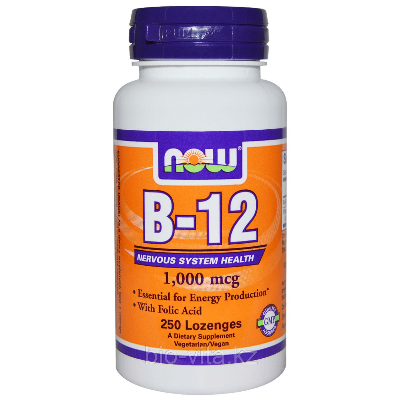 B-12, 1000 мкг, 250 таблеток для рассасывания. Now Foods
