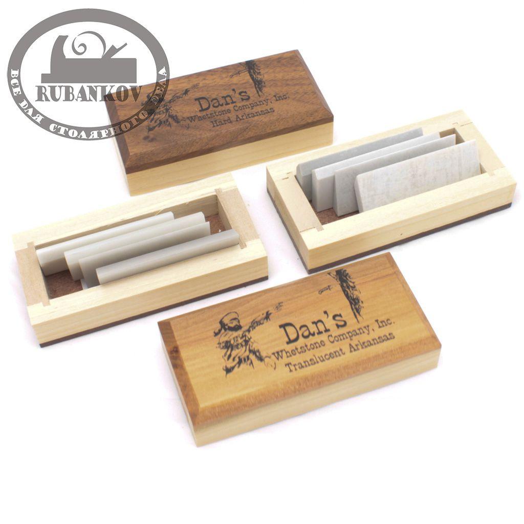 Заточной набор Dan's Fasset, 58мм, 4 шт, Arkansas Hard Carving Set