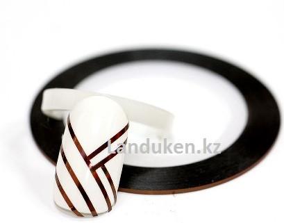 Декоративная самоклеющаяся нить-скотч для дизайна ногтей медь (лента для ногтей)