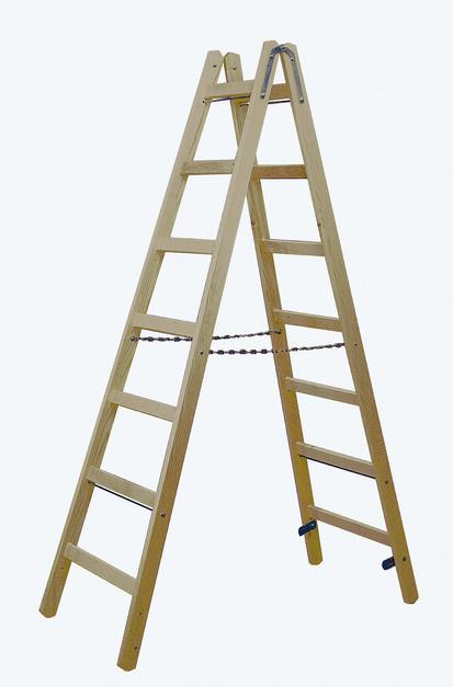 STABILO Двусторонняя лестница из дерева,  2 х 7 перекладин