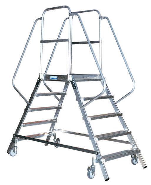 STABILO Односторонняя передвежная лестница 4-мя алюм. ступеньками