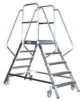 STABILO Односторонняя передвижная лестница  с 5-ю алюм. ступеньками