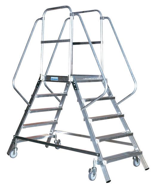 STABILO Односторонняя передвижная лестница  с 6-ю алюм. ступеньками