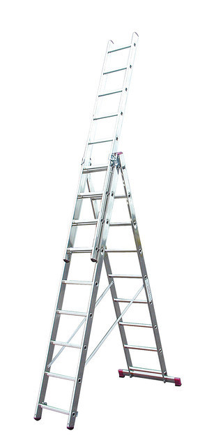 Универсальная лестница трехсекционная, KRAUSE CORDA 010384, 3х8
