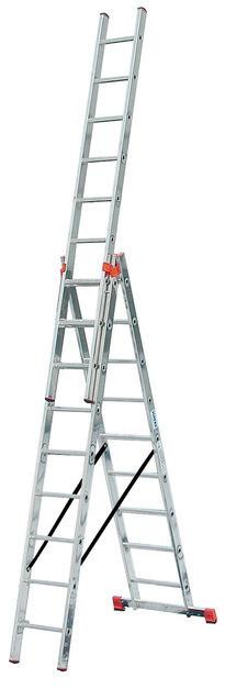 TRIBILO Универсальная лестница их трёх частей с доп. функцией, 3 х 8