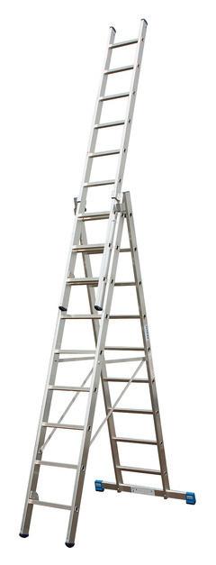 Универсальная лестница с перекладинами, трехсекционная KRAUSE STABILO, 3х10