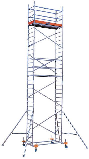 Алюминиевая вышка-тура KRAUSE PROTEC, рабочая высота 10,3 м
