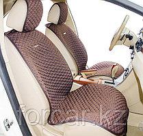 Накидки на передние сиденья «PALERMO» т.серый/синий