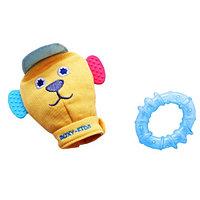 Игрушка-рукавичка со съемным прорезывателем Вуффи