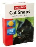 BEAPHAR Cat Snaps 75 т – Мультивитаминное лакомство для кошек с вкусом креветок