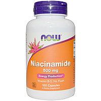 Ниацинамид, 500 мг, 100 капсул. Now Foods
