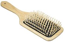 Деревянная массажная расческа с натуральной щетиной