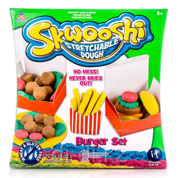 Набор для творчества Skwooshi – Бургер - масса для лепки и аксессуары