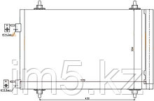 Радиатор кондиционера PEUGEOT 307 01-08