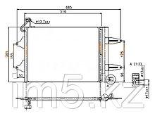 Радиатор кондиционера SEAT IBIZA 01-08