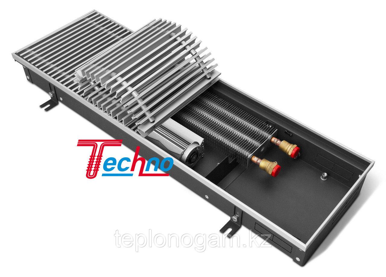 Конвектор внутрипольный (встраиваемый) с принудительной конвекцией - Techo Vent KVZV 250-85-2000