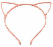 Ободок с Ушками металлический блестящий (оранжевый)
