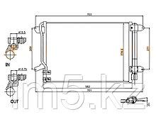 Радиатор кондиционера VW JETTA 11-