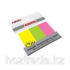 Закладки самоклеющиеся76*25 мм 50л*3 неоновых цвета