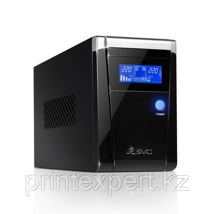 UPS, SVC, V-800-F-LCD, Smart, USB, Диапазон работы AVR: 165-275В, Бат.: 12В/9 Ач*1шт., 3 вых.: 2 Shuko CEE7+1, фото 2