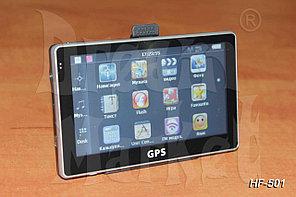 GPS- навигатор HF-501, 5 дюймов, ОЗУ 128 Мб, память 4 Гб, карты