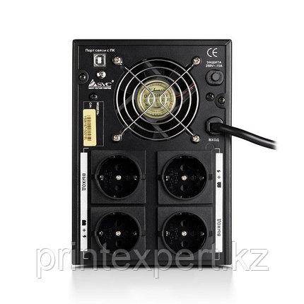 UPS, SVC, V-2000-F-LCD, Smart, USB, Диапазон работы AVR: 175-275В, Бат.: 12В/9 Ач*2шт., 4 вых.: Shuko CEE7 , Ч, фото 2