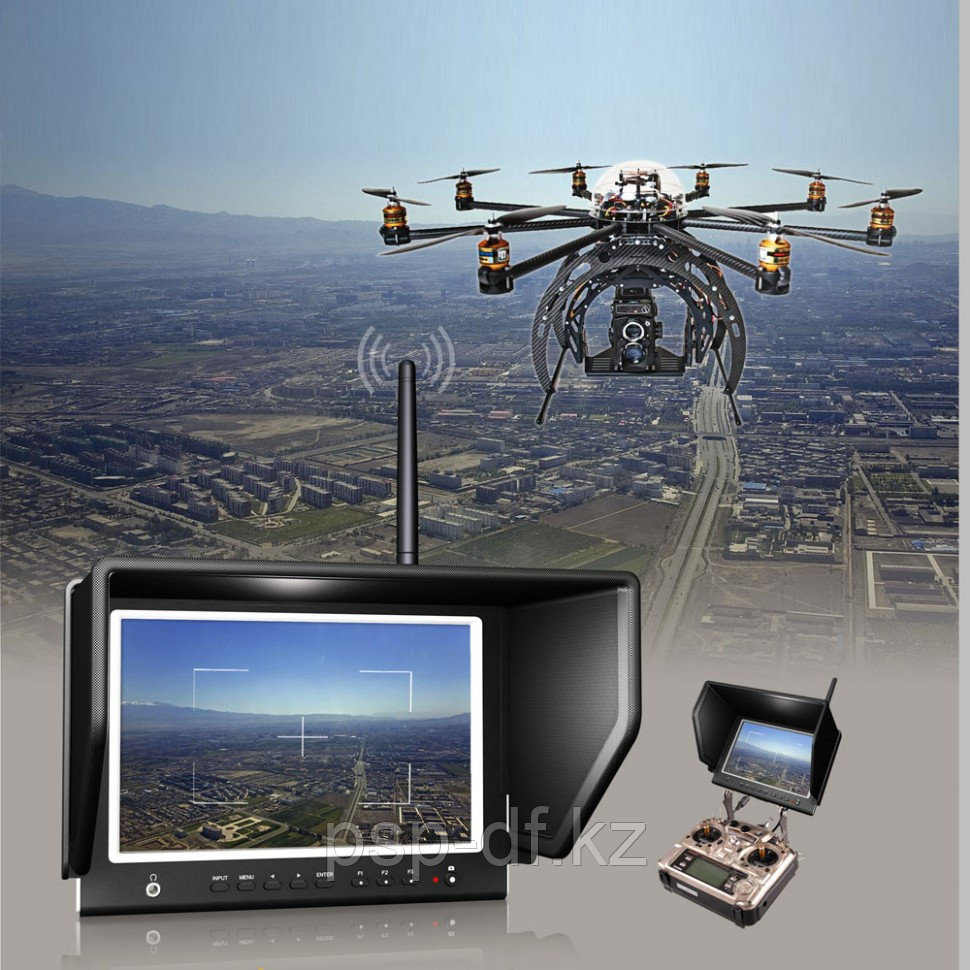 "Монитор Lilliput 7"" 664/W FPV Slim Monitor For 5.8GHz Aerial Fly Wireless Camera System with TS832 transmitter"