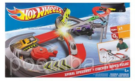 Хот Вилс Hot Wheels Team Spiral Speedway Playset